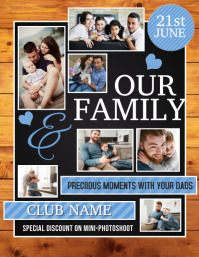 Family flyers,Photography session Volantino (US Letter) template