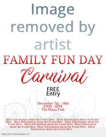 Family Fun Day Carnival Event Flyer Template