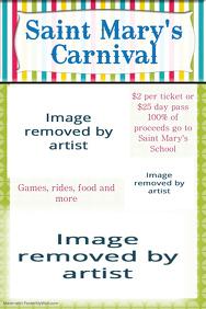 Family Fun Day Carnival Fundraiser School Poster Invitation