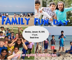 Family Fun Day Medium Rectangle template