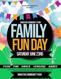 Family fun day Flyer (US Letter) template