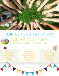Family Fun Day Event Custom Flyer Template