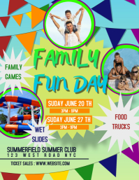 FAMILY FUN DAY EVENT FLYER