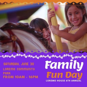 Family Fun Day Event Video Ad Template