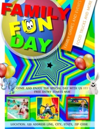 FAMILY FUN DAY FLYER TEMPLATE VIDEO