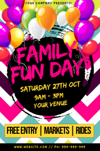 Family Fun Day Poster template
