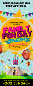 Family Fun Day Flyer Letter Setengah Halaman template