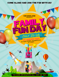 Family Fun Day Flyer Summer Camp Template