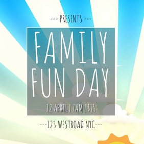 FAMILY FUN DAY TEMPLATE