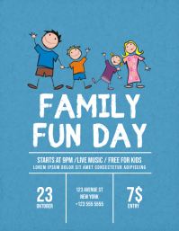 Family Fun Fay Flyer Template