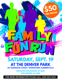 Family Fun Run Flyer
