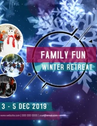Family Fun Winter Retreat FLYER VIDEO template