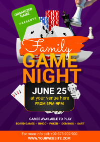family game night A5 template
