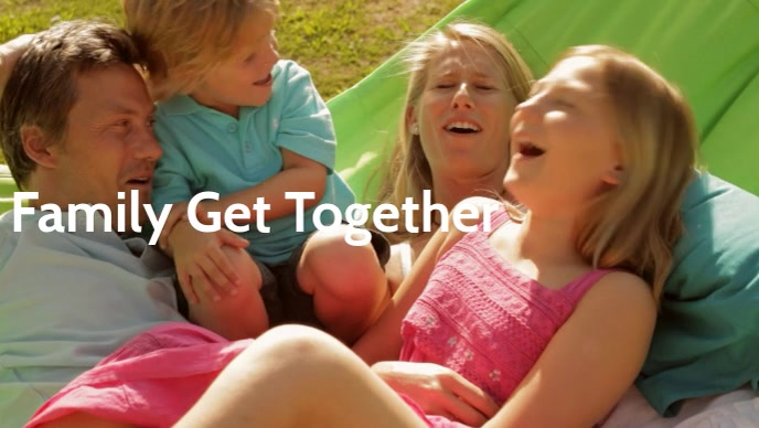 Family Get together poster template