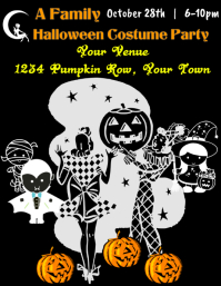 Family Halloween Party Flyer