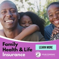 Family Health and Life Insurance facebook ad Instagram-opslag template