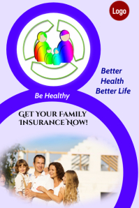 Family Health Insurance Affiche template