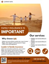 family insurance design template flyer advert Volante (Carta US)