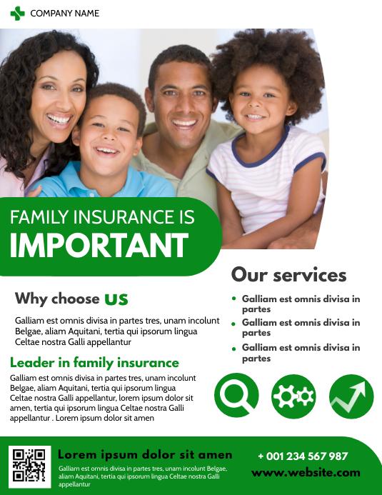 family insurance flyer advertisement design t template