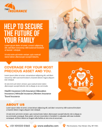 Family Insurance Flyer template