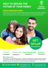 family insurance template A4