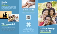 Family Insurance Trifold Brochure Front 美国正规 template