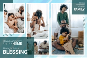 Family is a blessing Modern Photo Collage Poster template