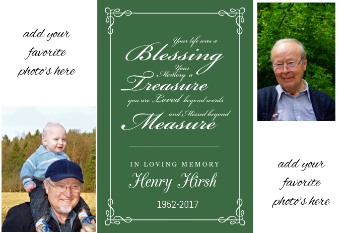 Family Memory Funeral Memorial Keepsake Poster Collage  Funeral Poster Templates