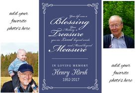 Family Memory Funeral Memorial Keepsake Poster Collage