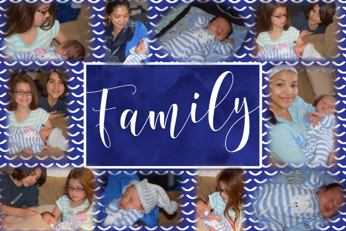 Family Memory New Baby Collage Poster Template