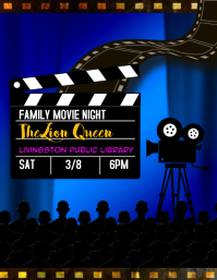 family movie night event flyer
