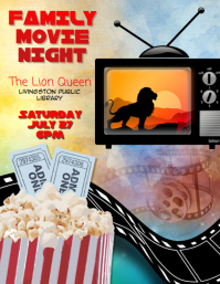 family movie night event flyer template