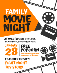 Family Movie Night Flyer template