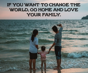FAMILY NATURE QUOTE TEMPLATE 巨型广告