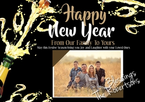 Family New Years Postcard