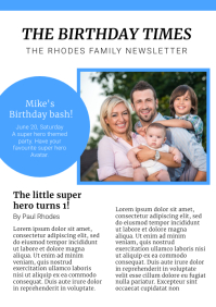 Family Newspaper Layout A4 template