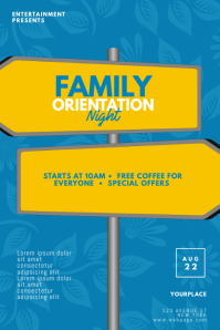 Family Orientation Event Flyer Template
