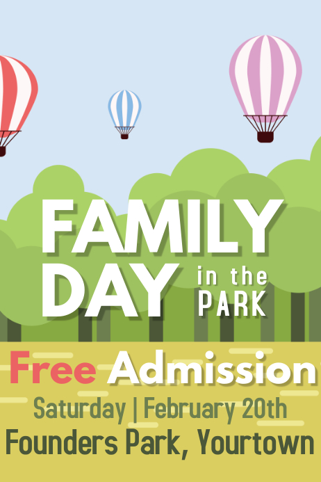 Family Park Event Poster
