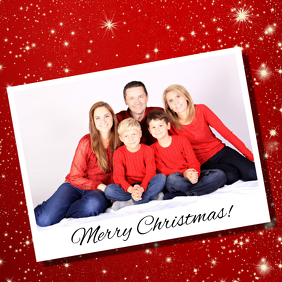 family photo christmas card instagram post template