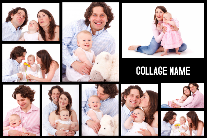 family photo collage landscape