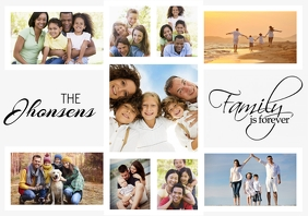 family photo collage template A1
