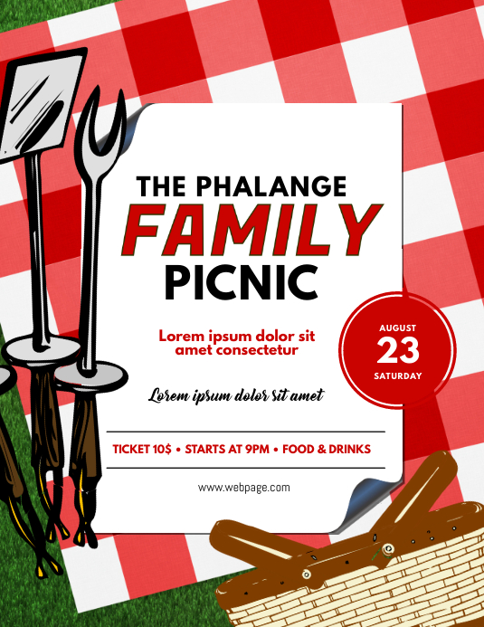 Family Picnic Flyer Template