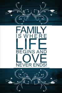 Family Gift Love Wall Decor Art Poster