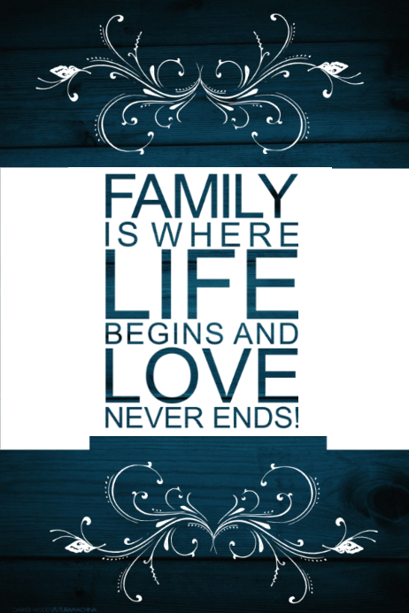 Family Gift Love Wall Decor Art Poster