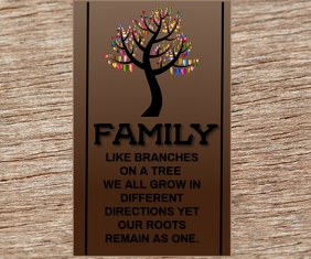 FAMILY QUOTE TEMPLATE