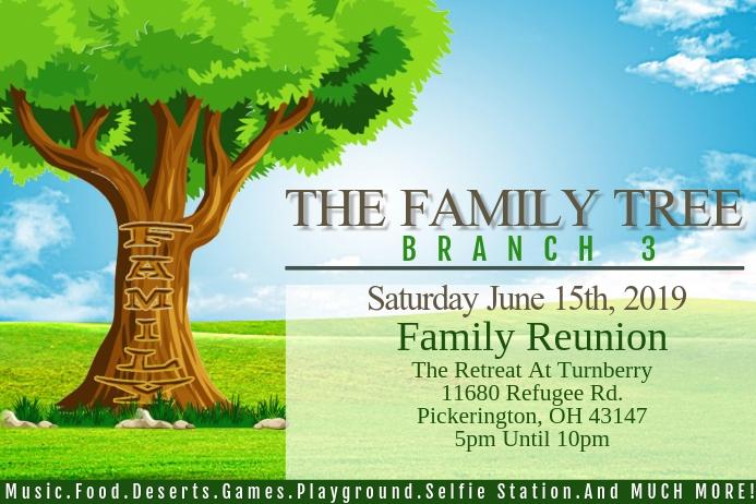 Family Reuinion Spanduk 4' × 6' template