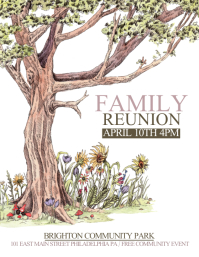 Family Reuinion. Reunion Flyer  Family Reunion Flyer
