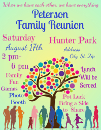 photograph about Free Printable Family Reunion Invitations called 1,220+ Family members Reunion Customizable Design and style Templates