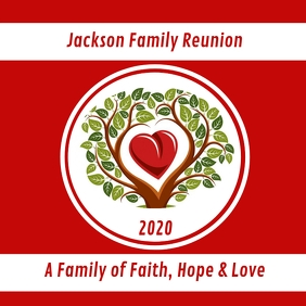 Family Reunion Logo template