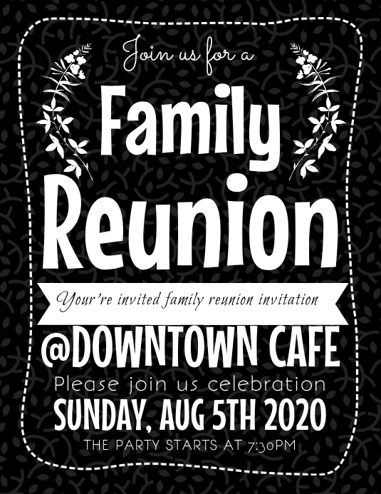 Family Reunion Flyer Template | PosterMyWall